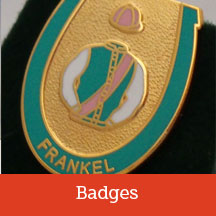 Horse racing badges