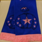 Cue Card scarf now back in stock