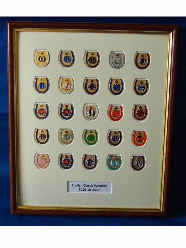 Classic Winners 25 Badge Framed Set 2013 - 2017