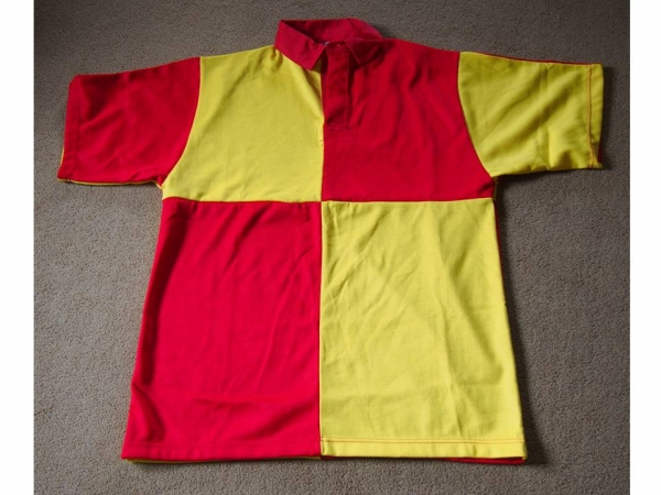 Red and Yellow Quartered Glyndwr Rugby Shirt