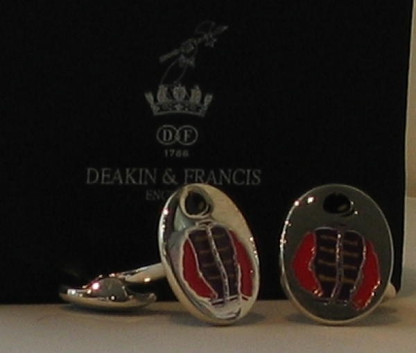 The Queen Solid Silver Cufflinks