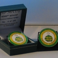 AP McCoy 4000th Winner Ltd Edition Badge