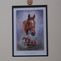 Annie Power 12 x 10 Mounted Print