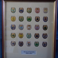 Derby Winners Framed Badge Set 1993-2017