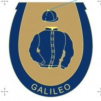 Galileo enamel badge