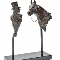 Sir Henry Cecil and Frankel Ltd Ed Bronze