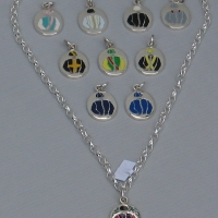 "18"" Solid Silver Necklace With Godolphin Charm"