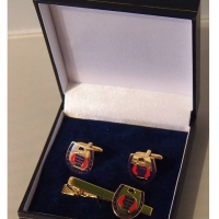 The Queen Cufflink and Tie Bar Set